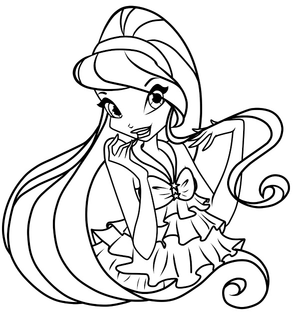 winx club coloring pages for kids