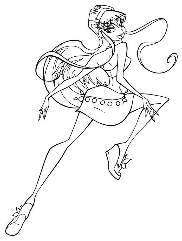 Winx Club Coloring Pages Roxy