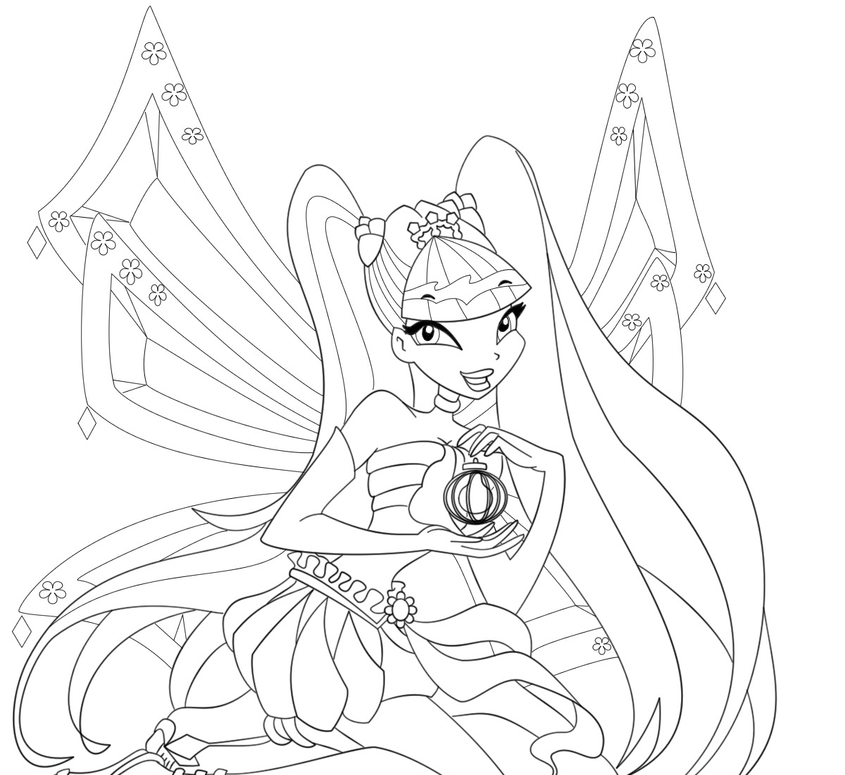 Free printable winx club coloring pages - Winx Club Coloring Pages Stella
