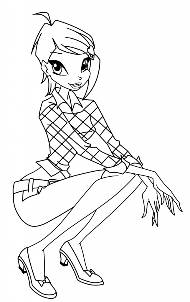 Winx Club Tecna Coloring Pages