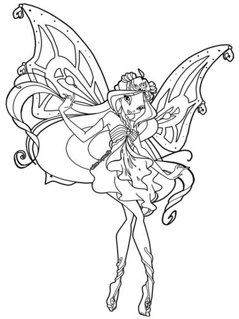 Free Printable Winx Club Coloring Pages For Kids Winx Club Coloring Pages Flora