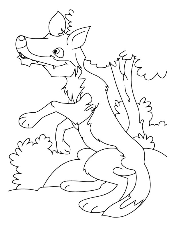 wolves coloring pages - photo#33