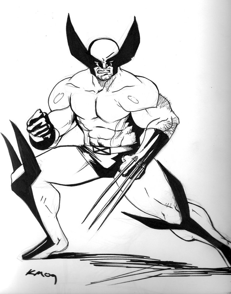 Coloring Pages Wolverine Color Pages free printable wolverine coloring pages for kids page