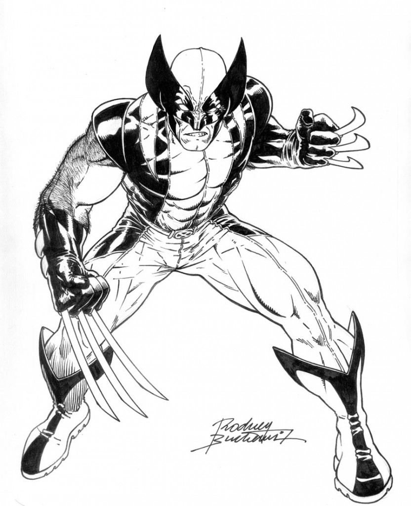Wolverine Coloring Pages For Kids