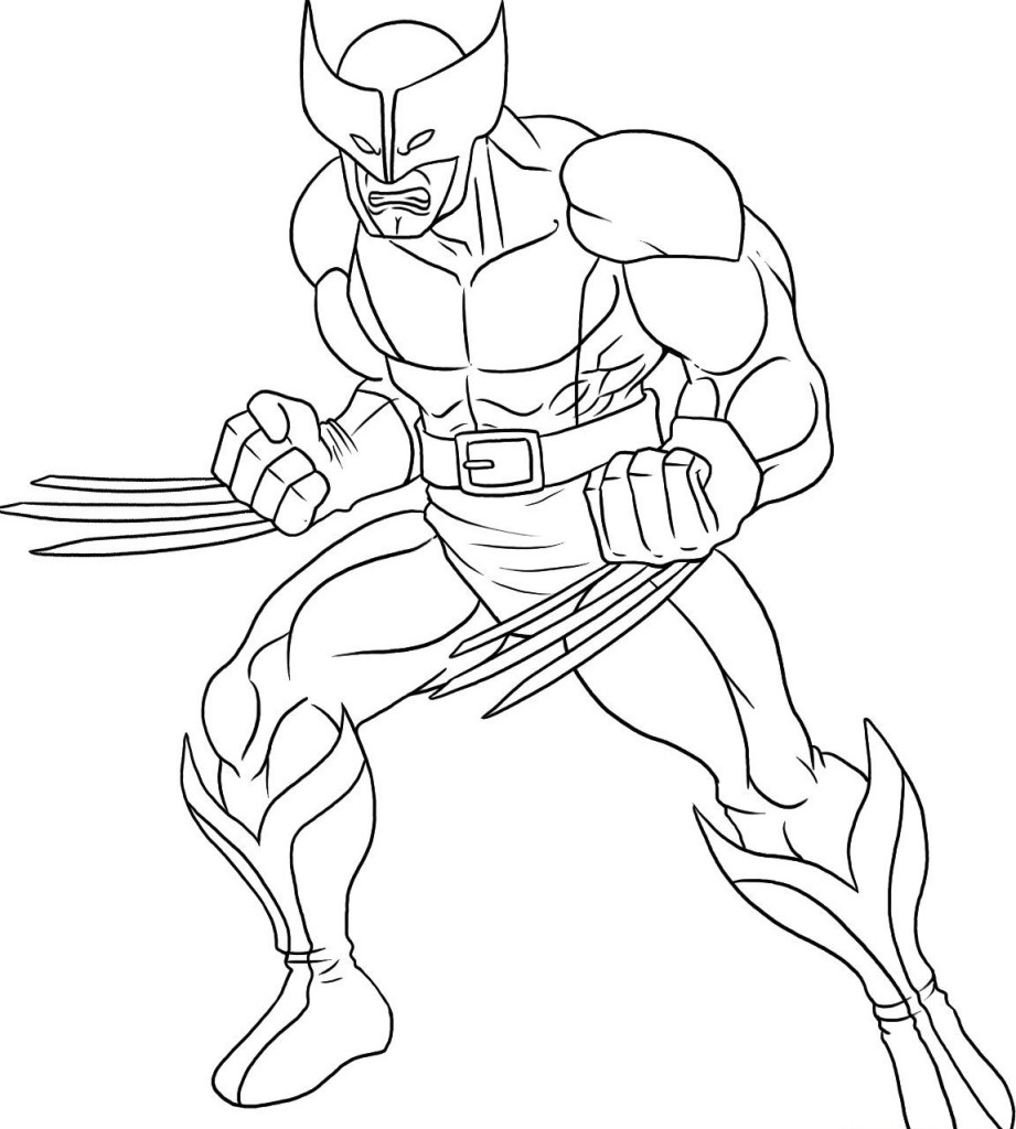 wolverine coloring pages free