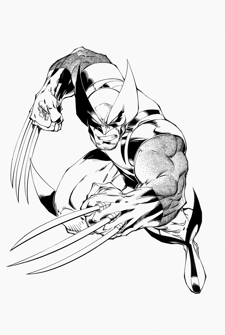 x man wolverine coloring pages - photo #43