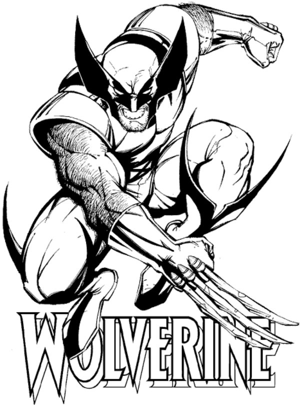 wolverine coloring pages printable free superhero coloring page