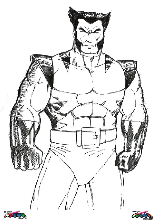 Wolverine Coloring Pages To Print