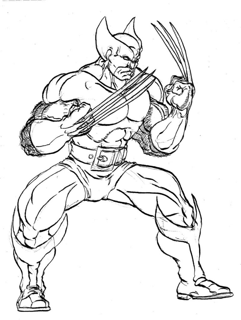 x man wolverine coloring pages - photo #31