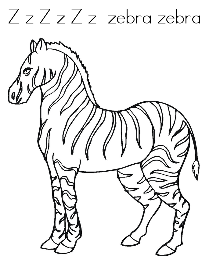 zebra coloring pages free - photo #40