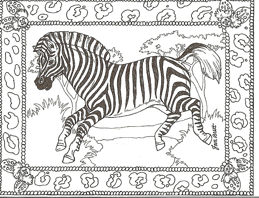 zebra coloring pages without stripes - photo #39