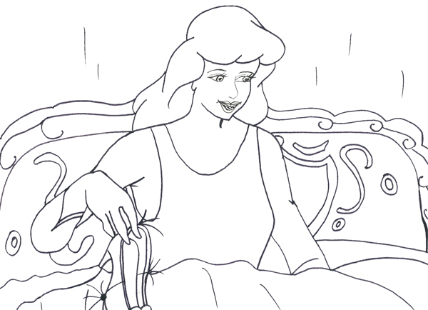 Cinderella Disney Princess Coloring Pages
