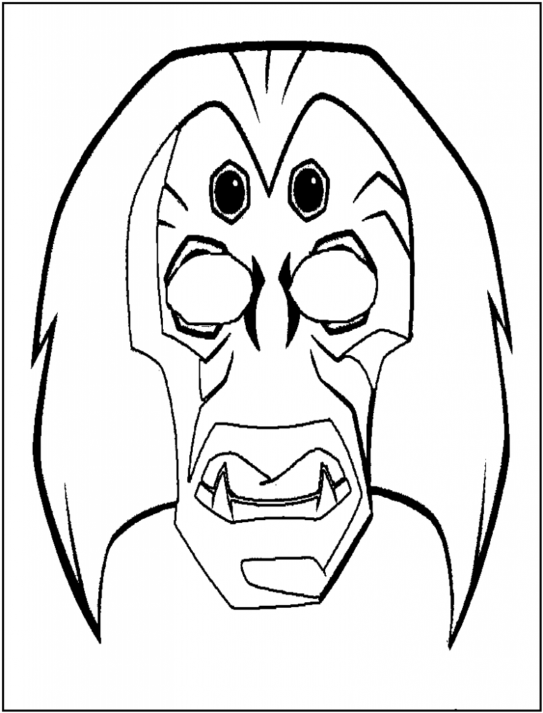 African Masks Coloring Pages