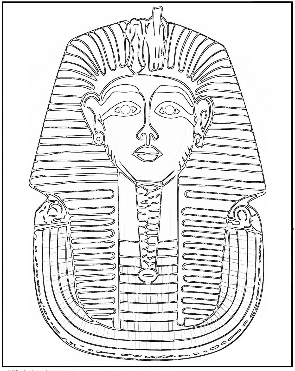 ancient egypt coloring page - Egyptian Coloring Pages Printable