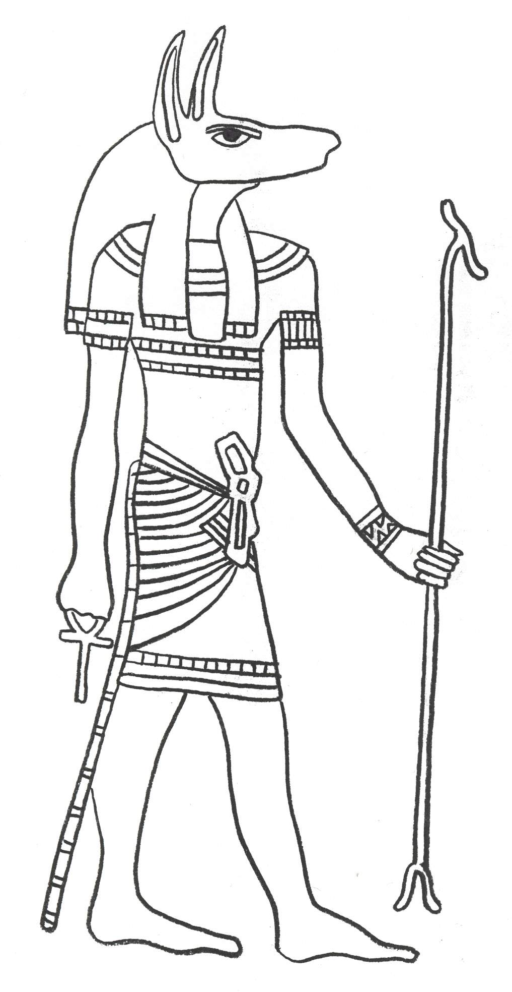 ancient egypt coloring pages for kids - Egyptian Coloring Pages Printable