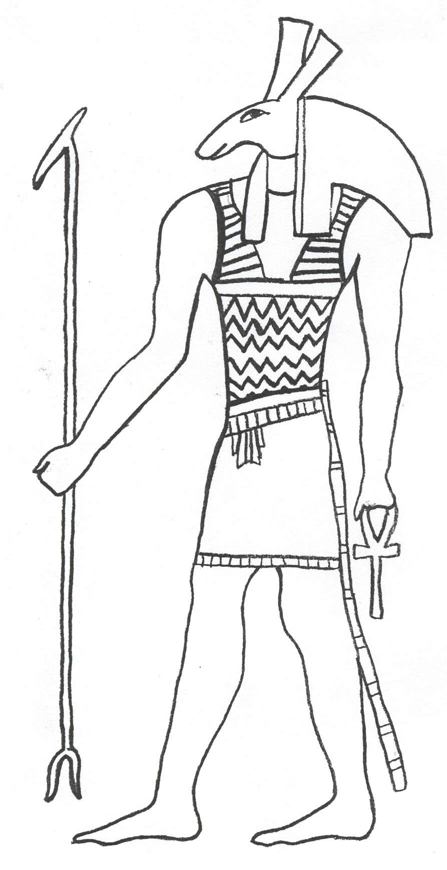 ancient egypt coloring pages pictures - Egyptian Coloring Pages Printable