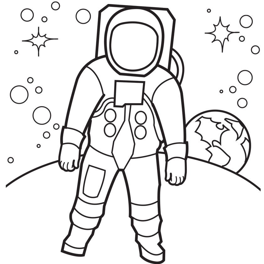 Printable Astronaut Coloring Pages For Kids