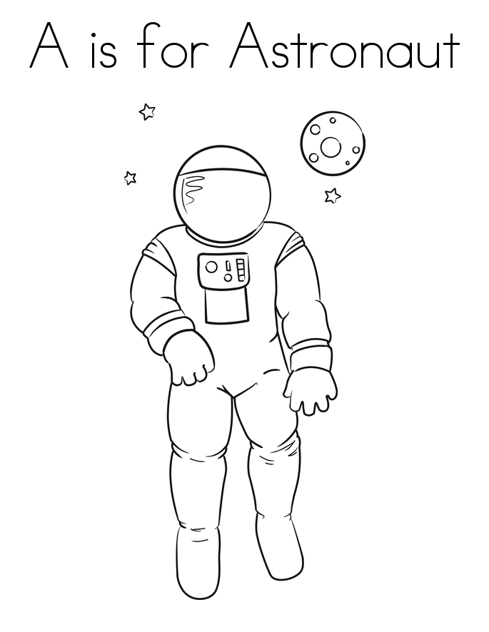 astronauts in space coloring pages - photo#28