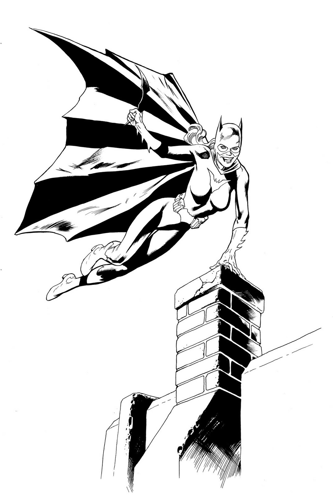 Free Printable Batgirl Coloring