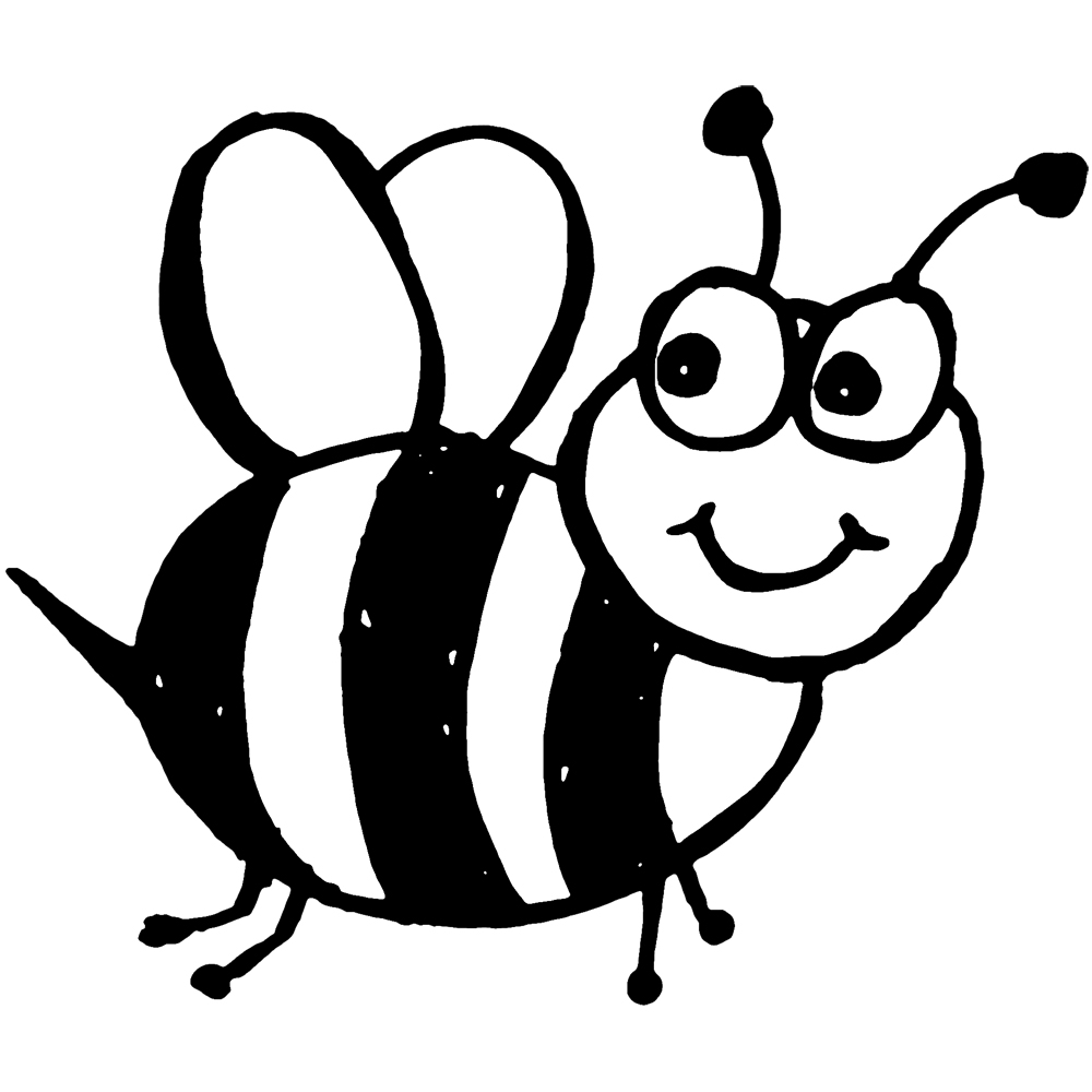 free bee coloring pages - photo#16