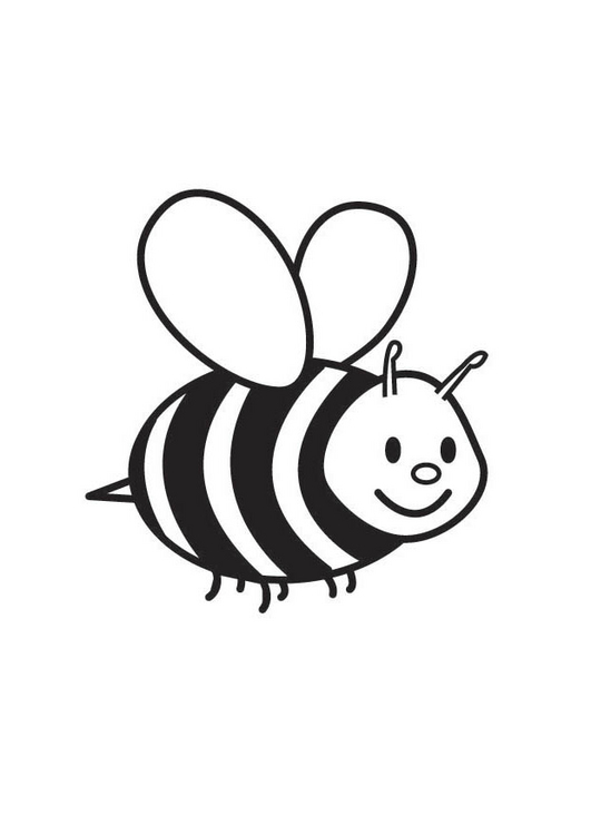 free bee coloring pages - photo#11
