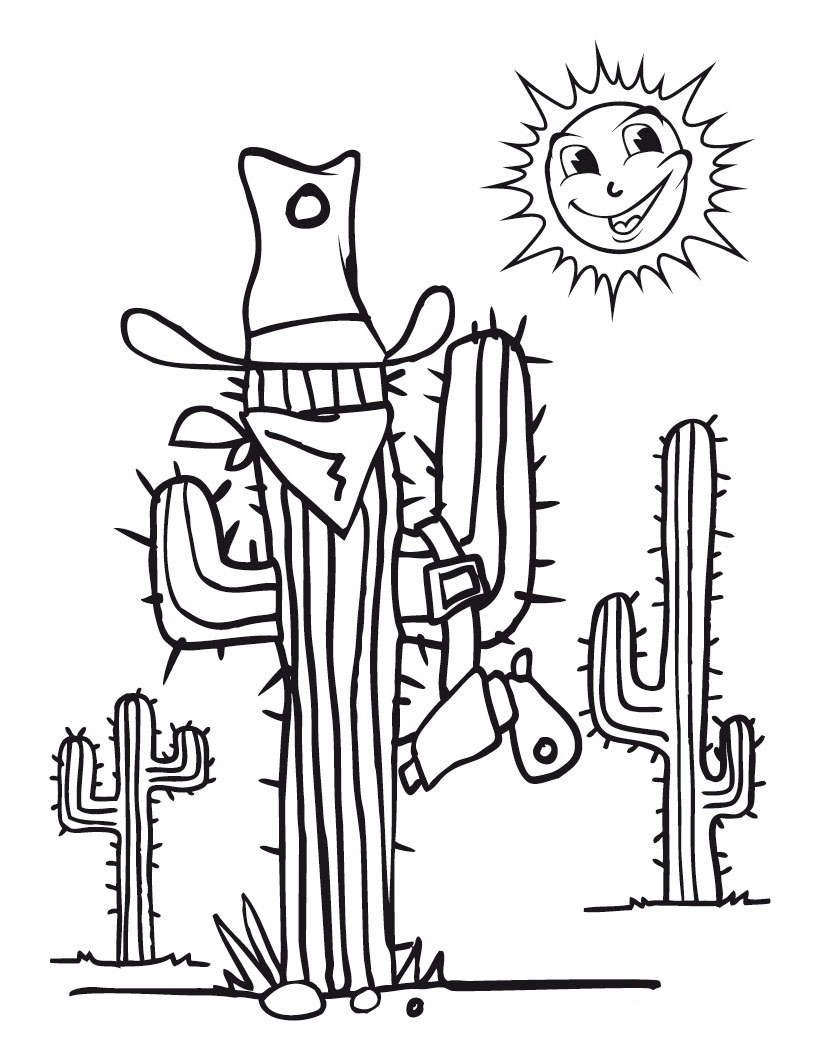 Free Printable Cactus Coloring Pages For Kids