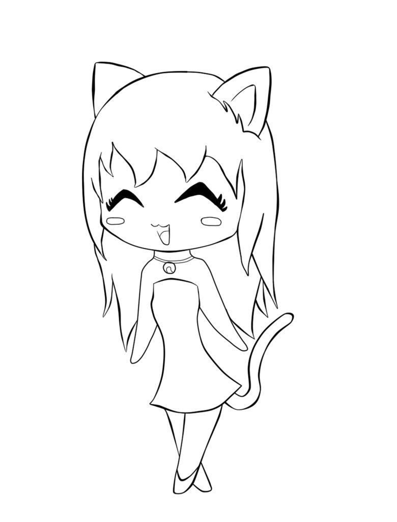 chibi coloring pages - Cute Coloring Pages
