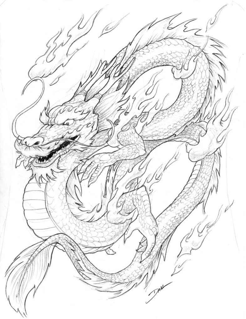 chinesse dragon coloring pages - photo#5
