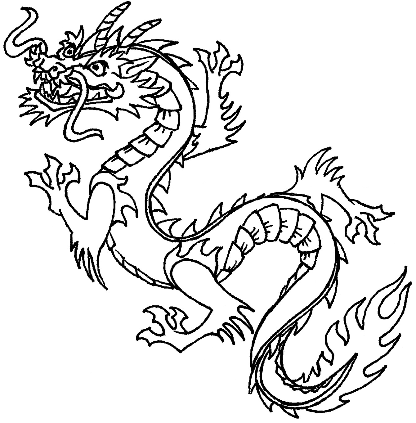 chinese dragon coloring pages for kids