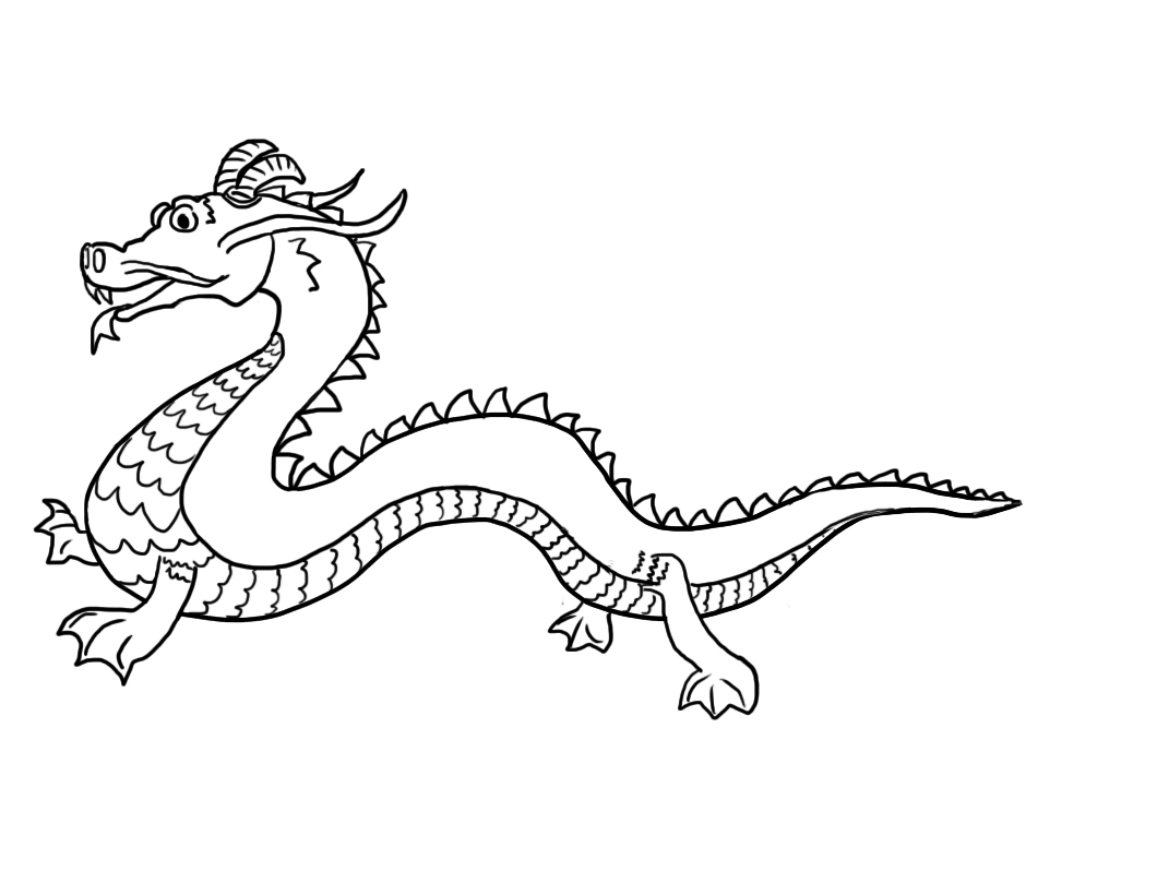 chinese new year dragon coloring page. Chinese Dragon Coloring Pages Printable For Kids