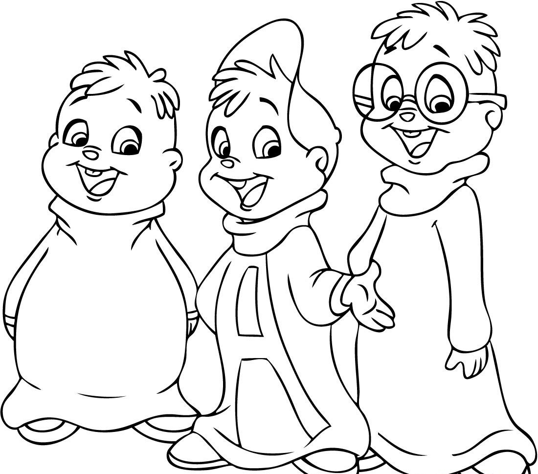 chipmunks coloring pages printable - photo#30