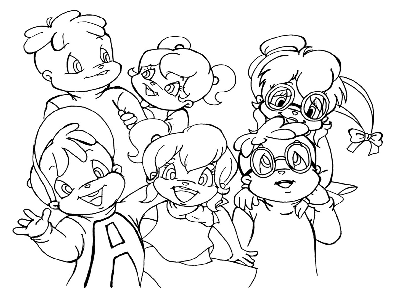 the chipettes coloring pages free - photo#13