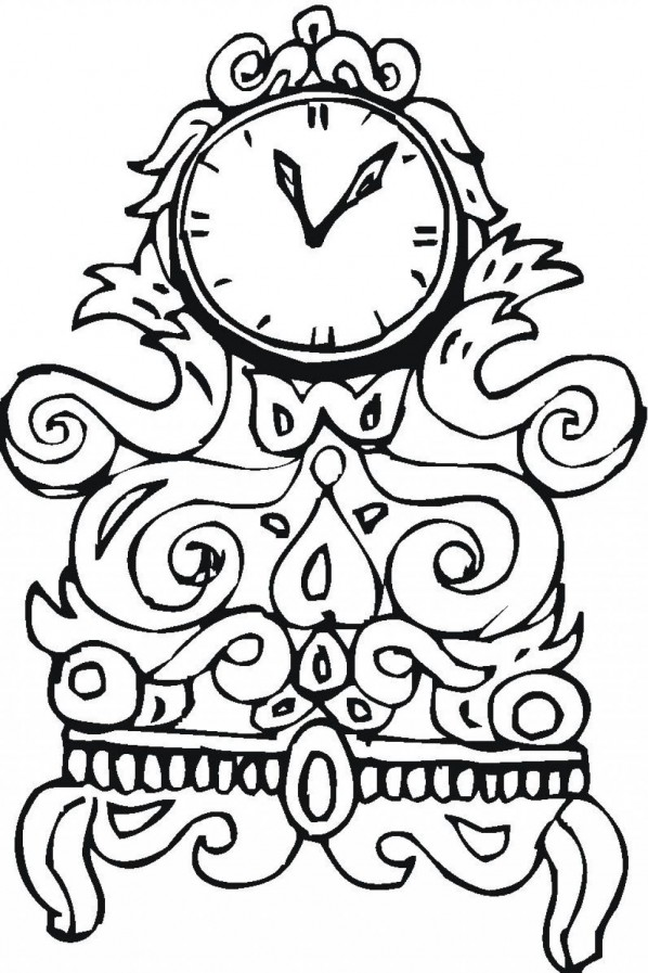 clock coloring page designs - Coloring Pages With Designs