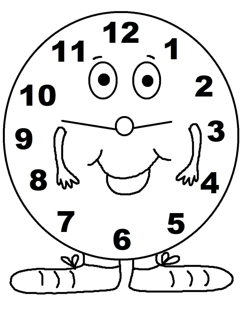Free Printable Clock Coloring Pages For Kids Times Coloring Pages
