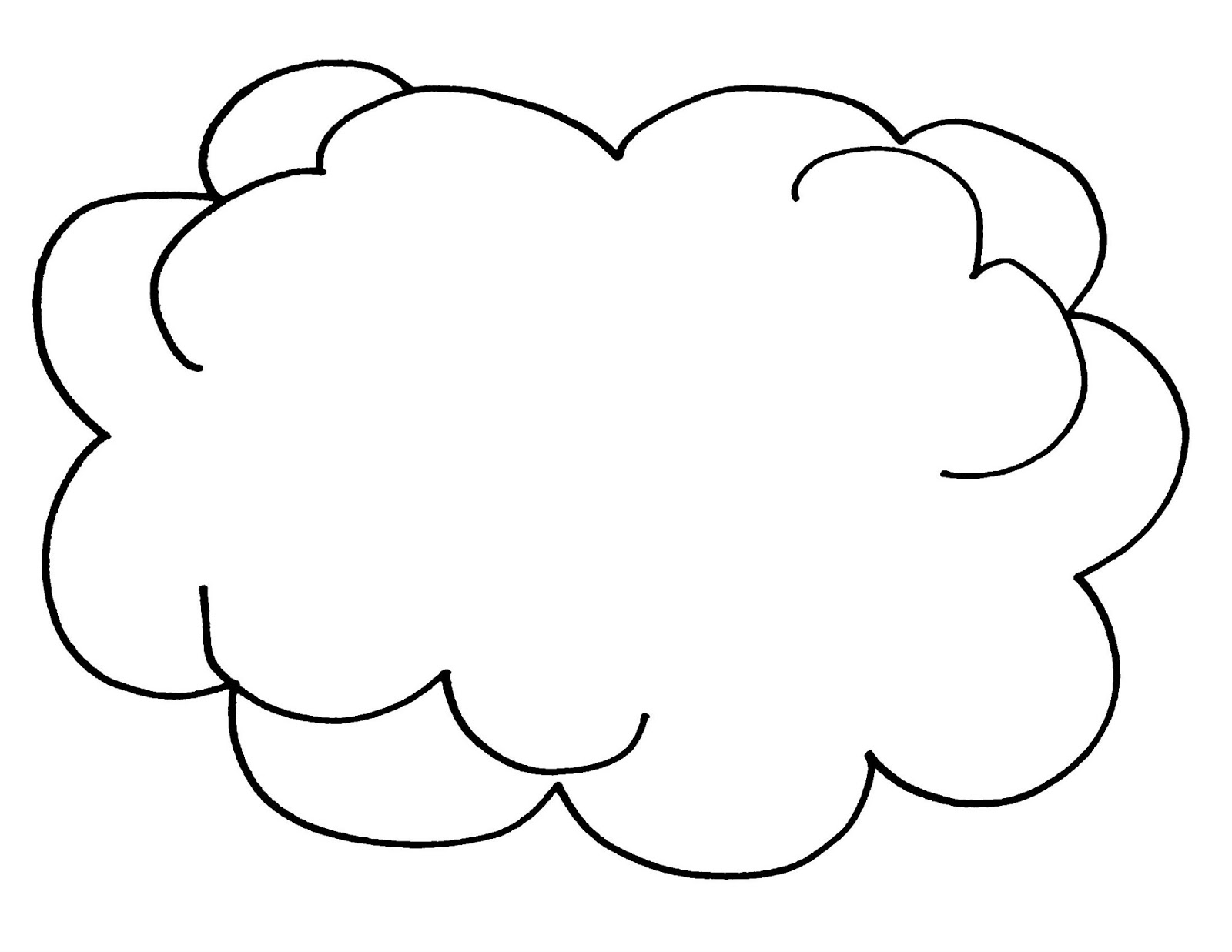 cloud coloring pages to print - Cartoon Template Printable