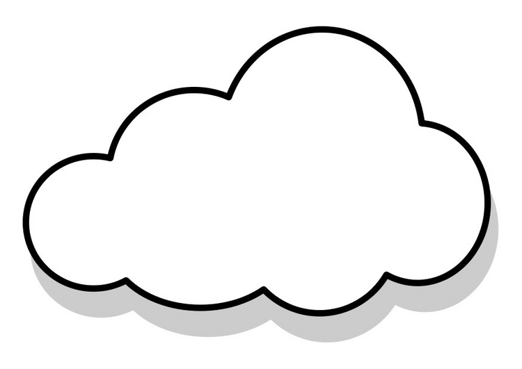 Cloud Coloring Pages