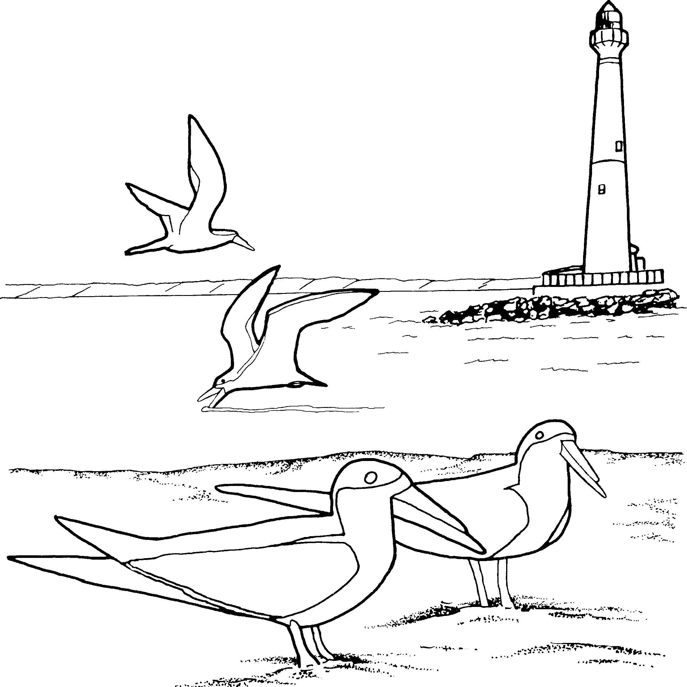 coloring pages lighthouse - photo#23