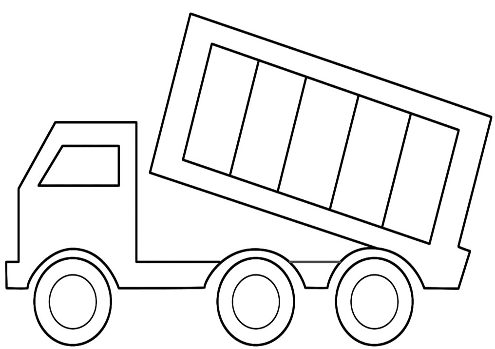 Coloring Pages Dump Truck