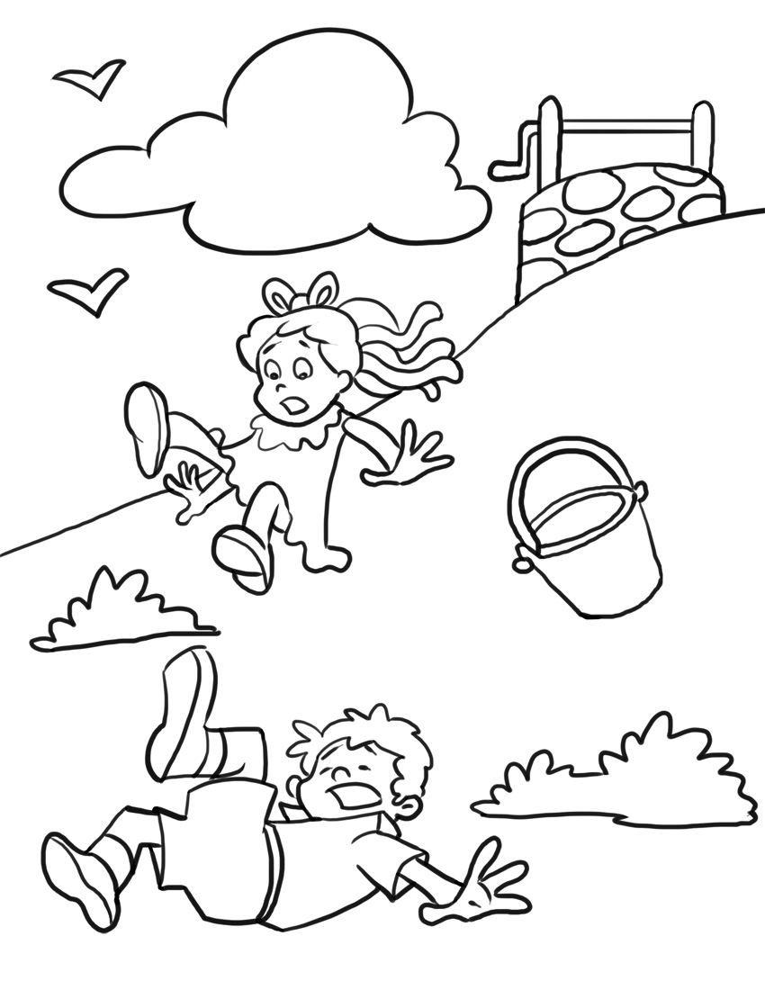 free nursery rhymes coloring pages - photo#4