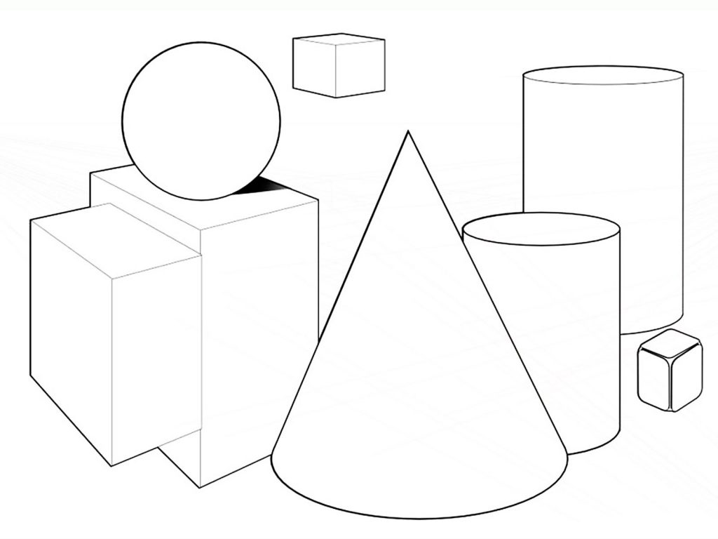Free printable shapes coloring pages for kids for Geometric shapes coloring pages