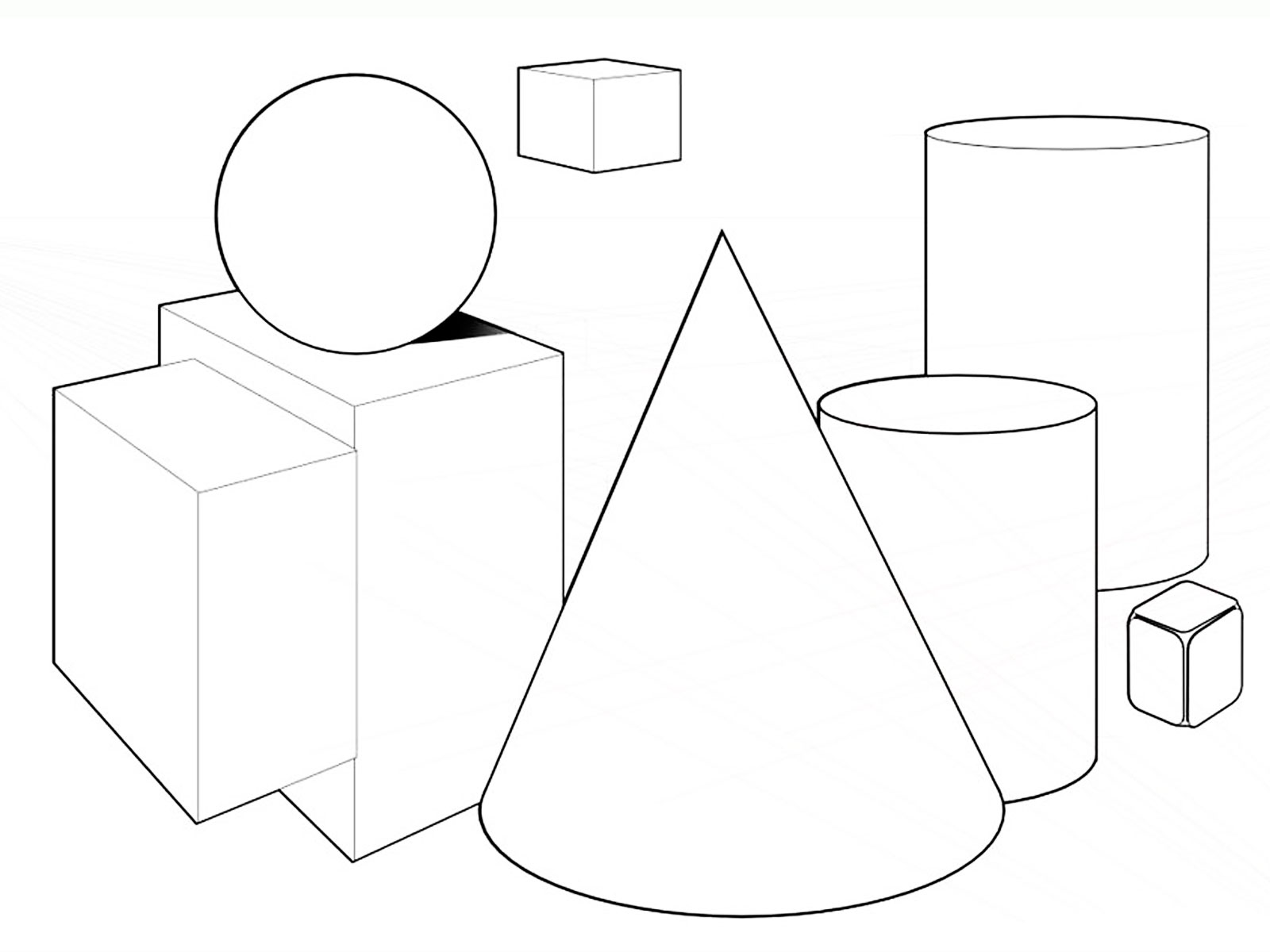 Coloring Pages Color Shapes