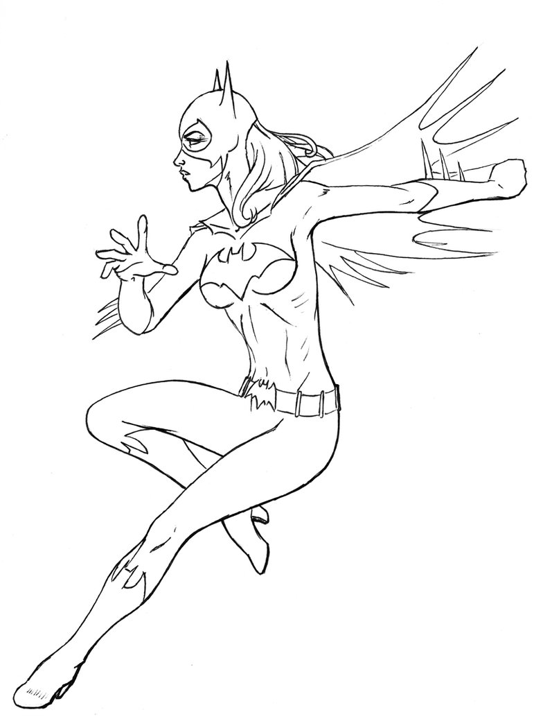 free coloring pages of batgirl an supergirl