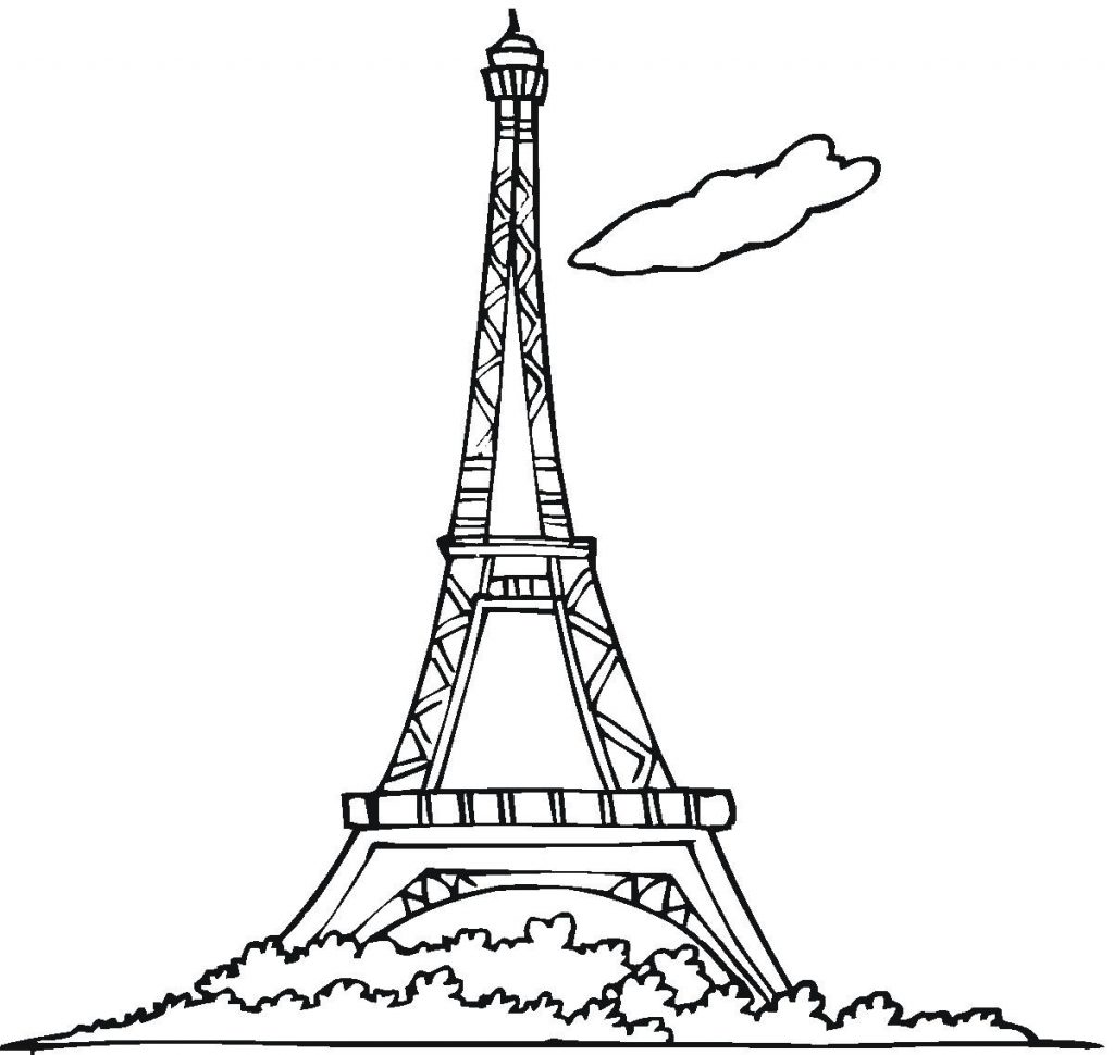 paris eiffel tower coloring pages - free printable eiffel tower coloring pages for kids
