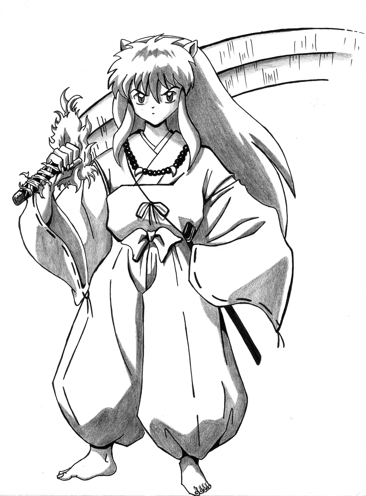 coloring pages of inuyasha - Inuyasha Coloring Pages