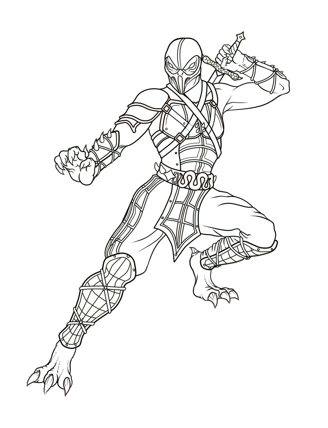 coloring pages of mortal kombat