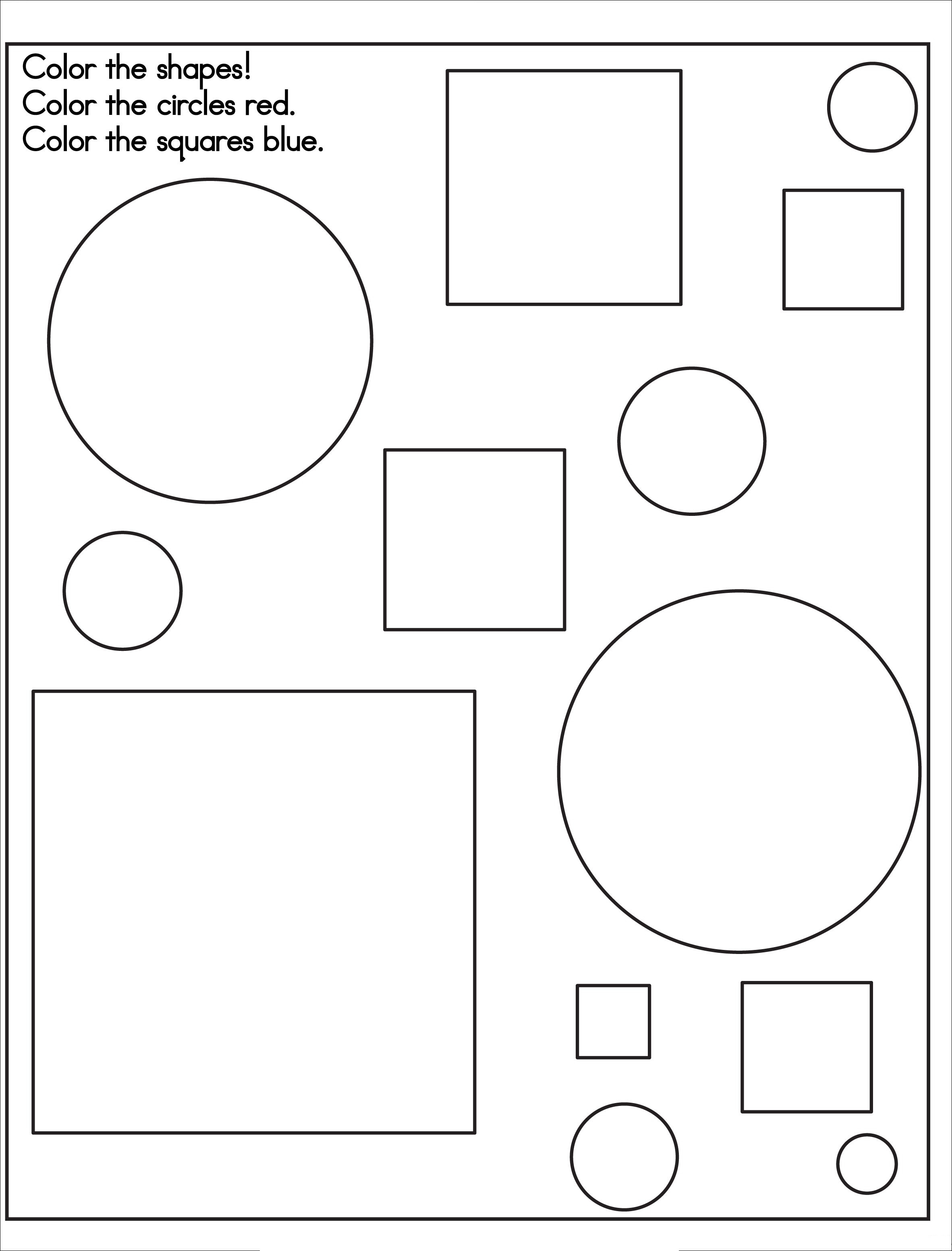 Printable Shapes Coloring Pages Kids