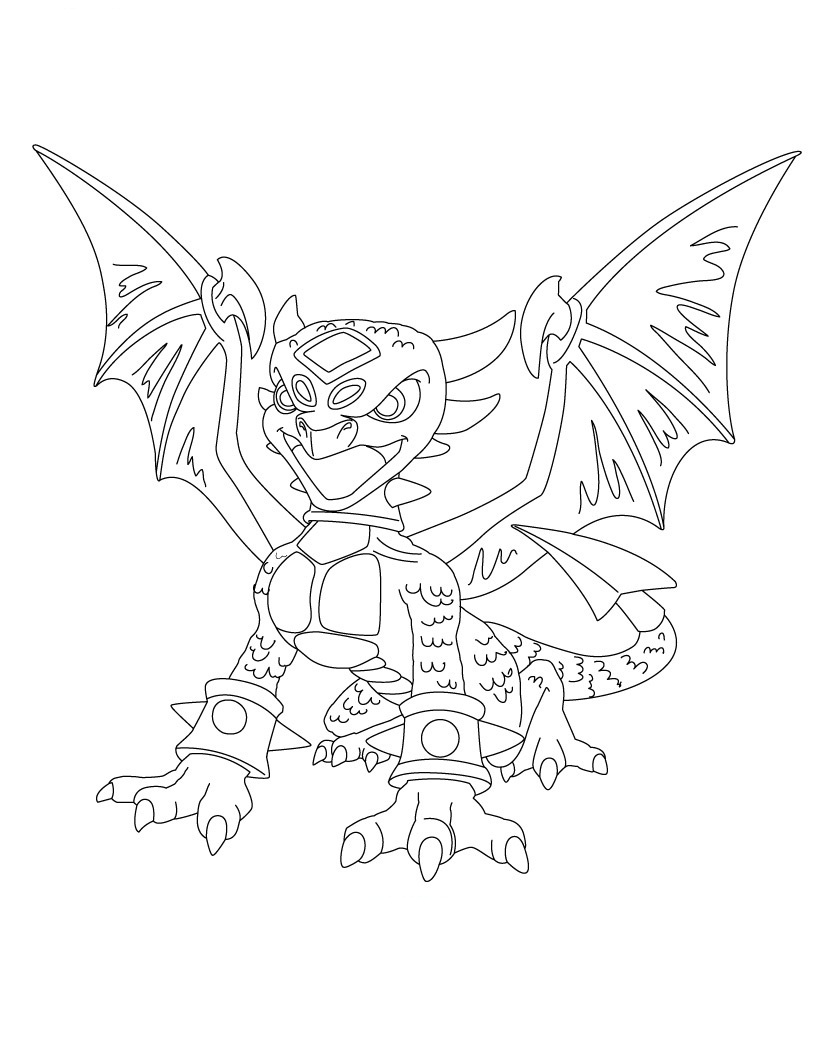Free coloring pages for skylanders - Coloring Pages Of Skylanders Giants
