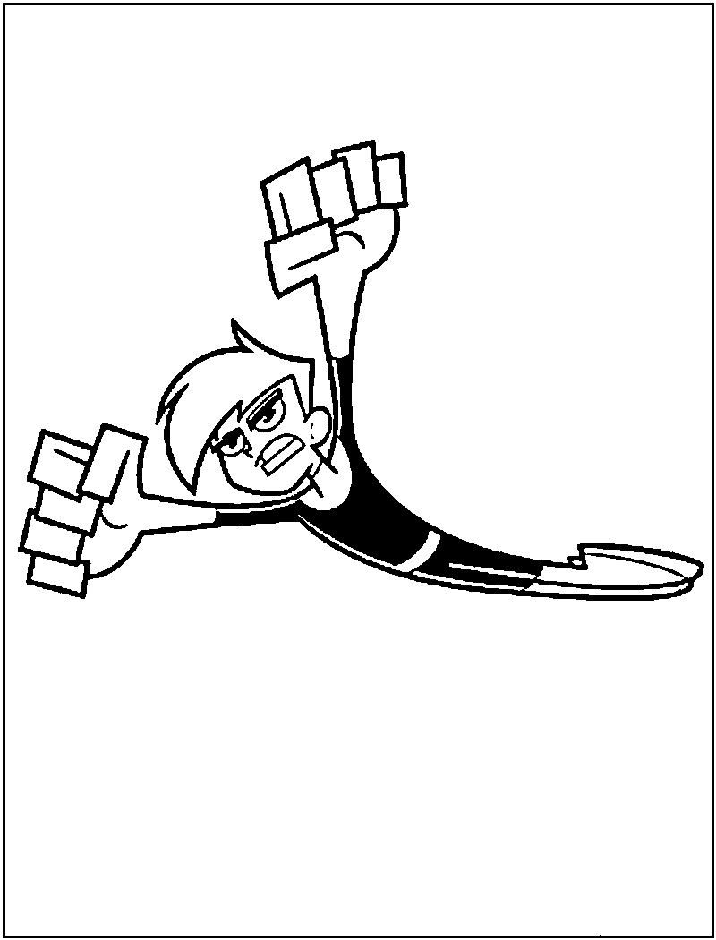 danny phantom printable coloring pages - photo#36