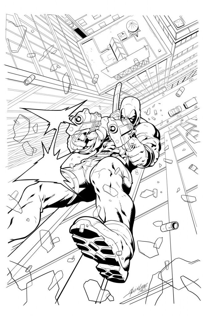 Deadpool Coloring Page