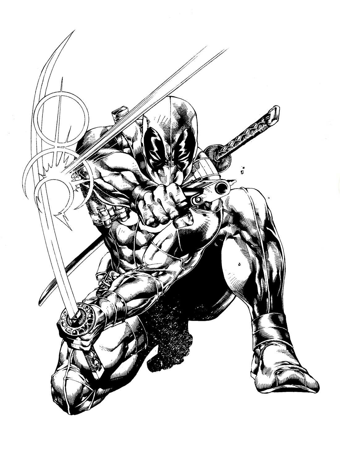 Wolverine coloring pages to print - Deadpool Coloring Pages For Kids